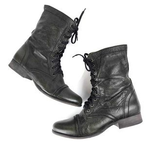 Steve Madden Troopa Army Green Combat Boots